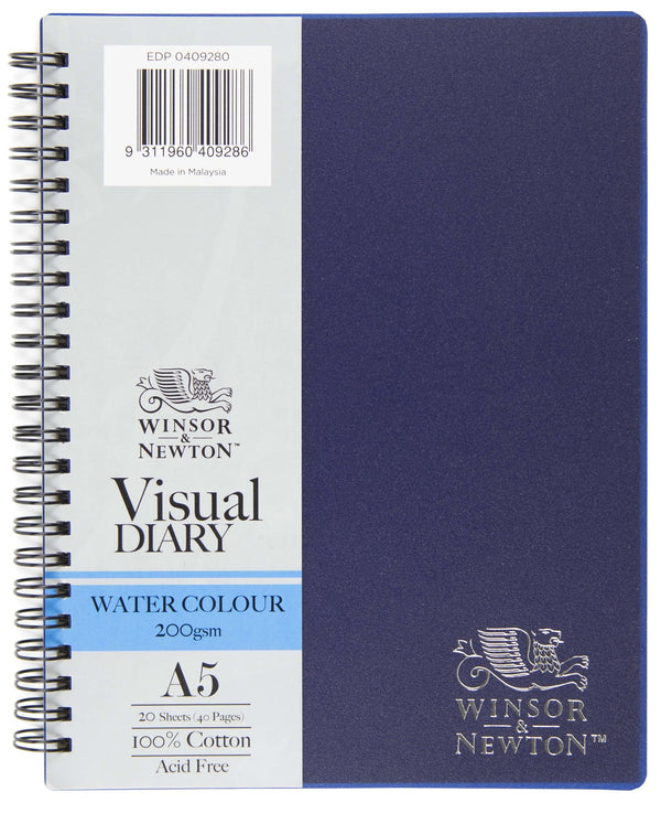 Winsor & Newton Watercolour Visual Diary, 200gsm A5