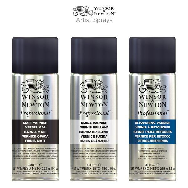 Winsor & Newton Professional Matt Varnish Spray 400mL