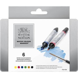 Winsor & Newton Watercolour Markers 6 set box