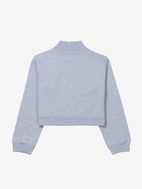 7 DAYS Crop zip-up Shirts 022 Heather grey