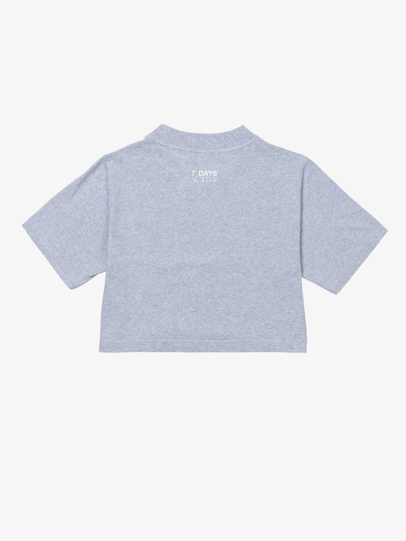 7 DAYS Cropped T-shirt Tshirt 022 Heather grey