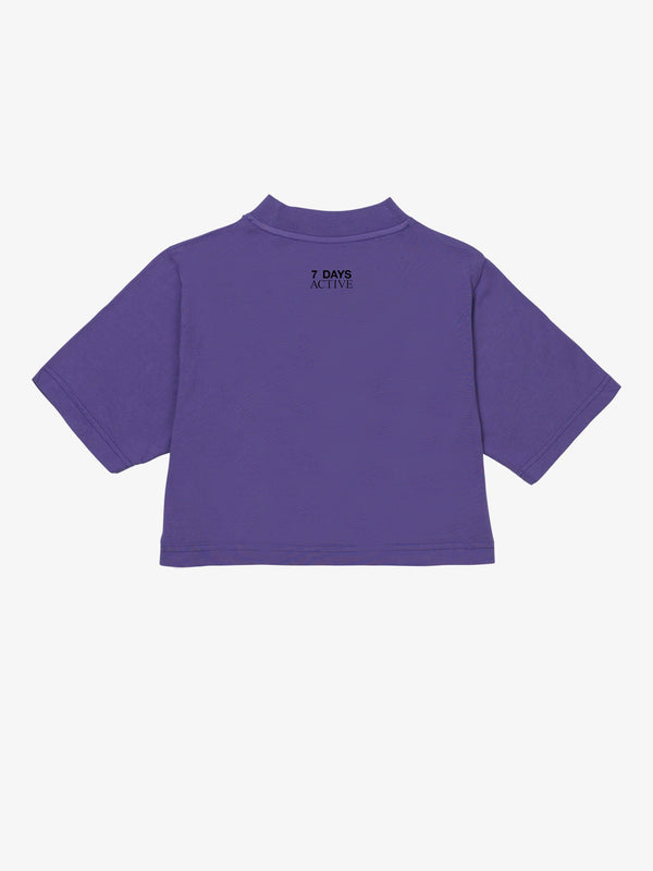 7 DAYS Cropped T-shirt Tshirt 700 Purple