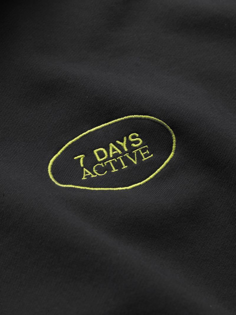 7 DAYS Hoodie Oversized Shirts 001 Black