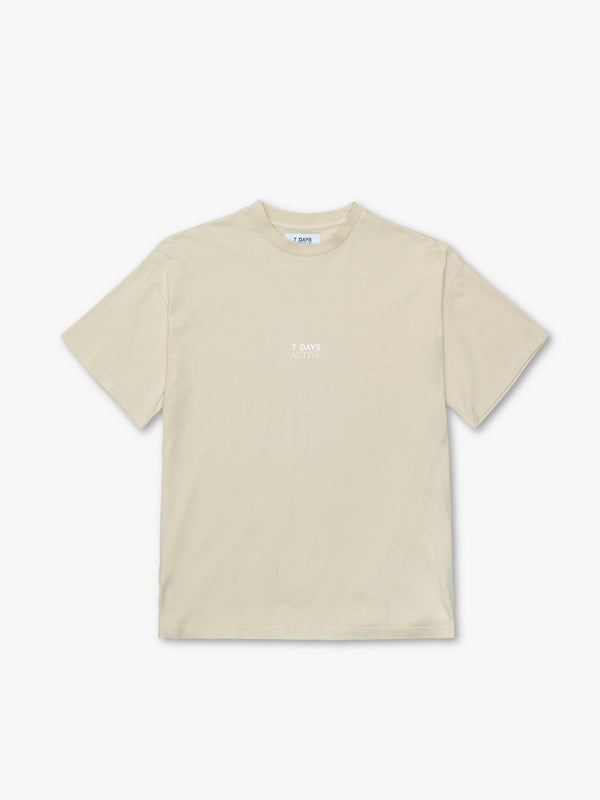 7 DAYS Korean town tee Tshirt 403 Cream