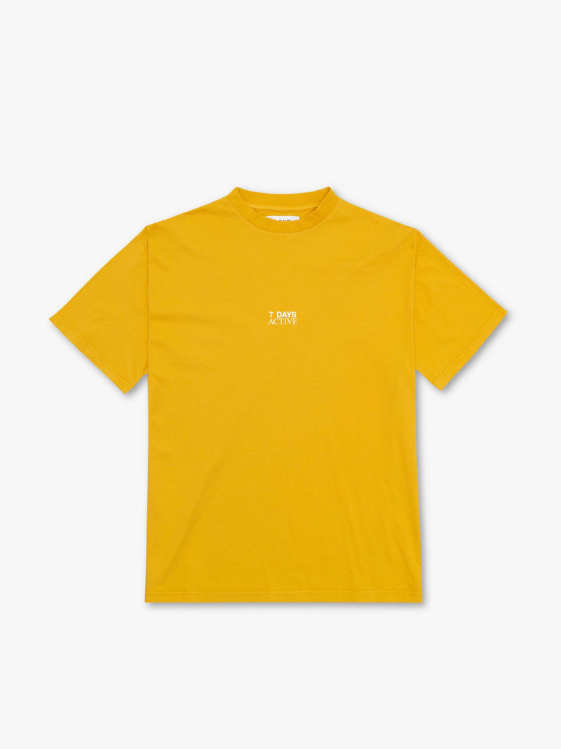 7 DAYS Korean town tee Tshirt 800 Yellow
