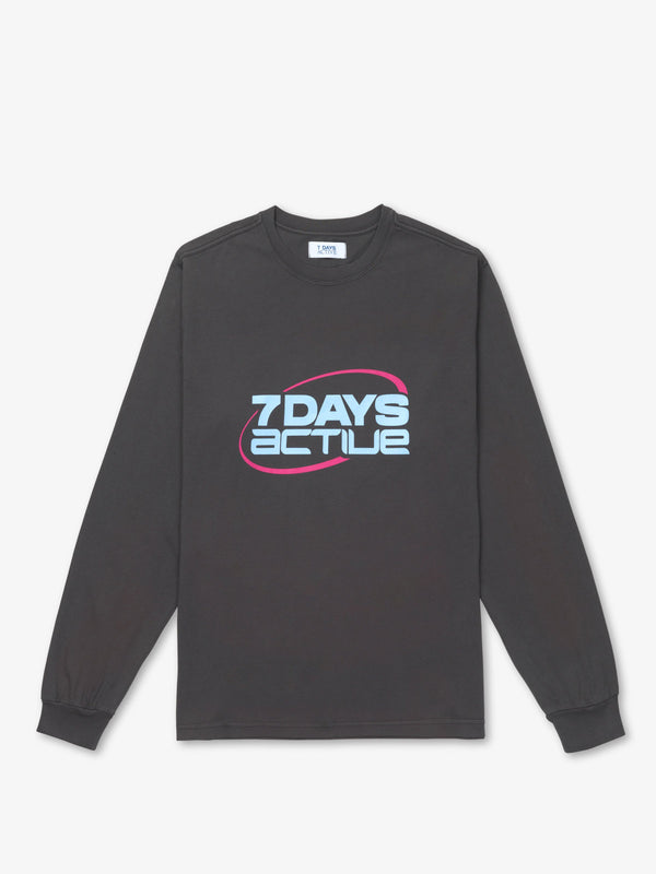 7 DAYS Long Sleeve Tee Tshirt 024 Oyster Black