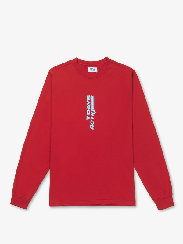 7 DAYS Long Sleeve Tee Tshirt 122 Mars Red
