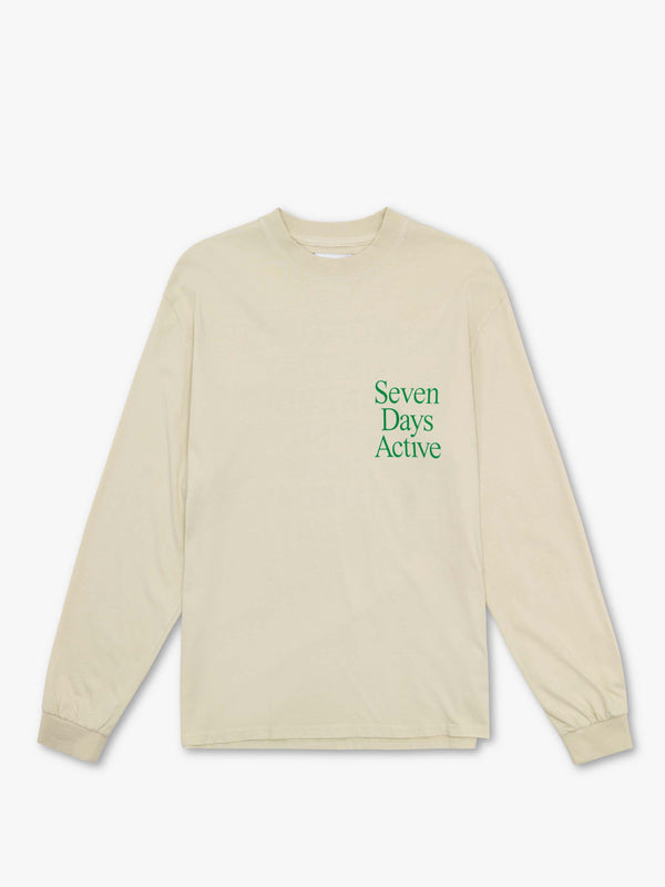 7 DAYS Long sleeve tee Tshirt 403 Cream