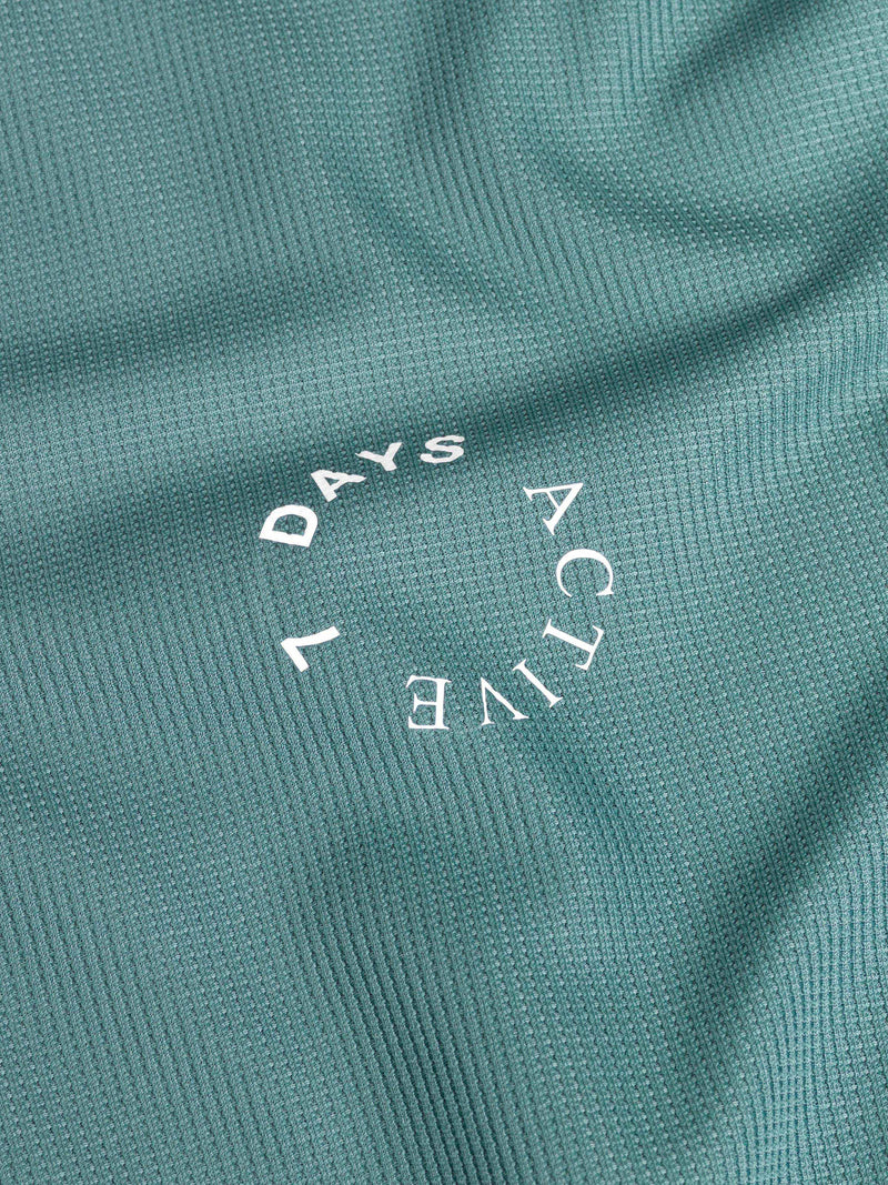 7 DAYS Long tech Tee Tshirt 205 Dark green