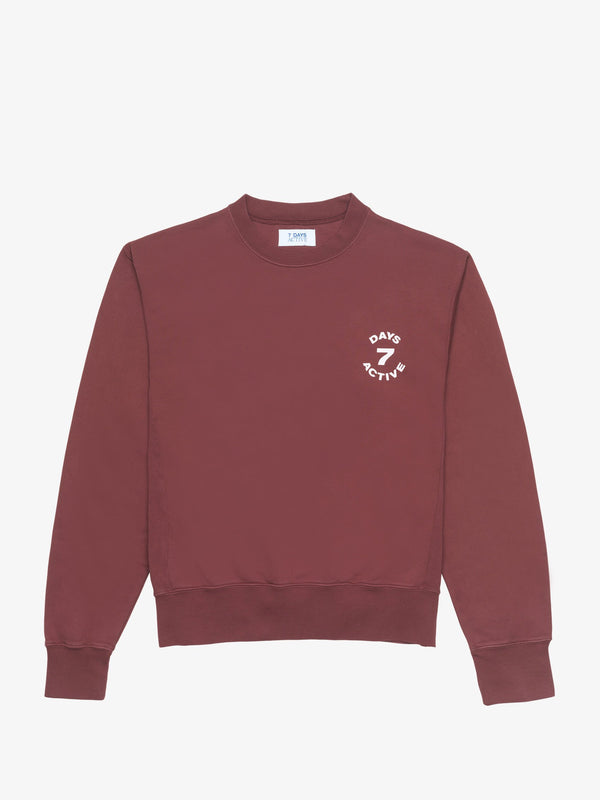 7 DAYS Monday crew neck Shirts 107 Oxblood Red