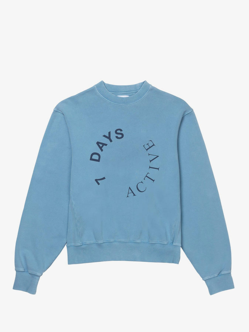 7 DAYS Monday crew neck Shirts 302 Light blue dust