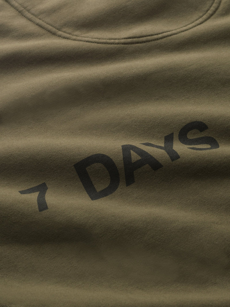 7 DAYS Monday crew neck Shirts 506 Beech Brown