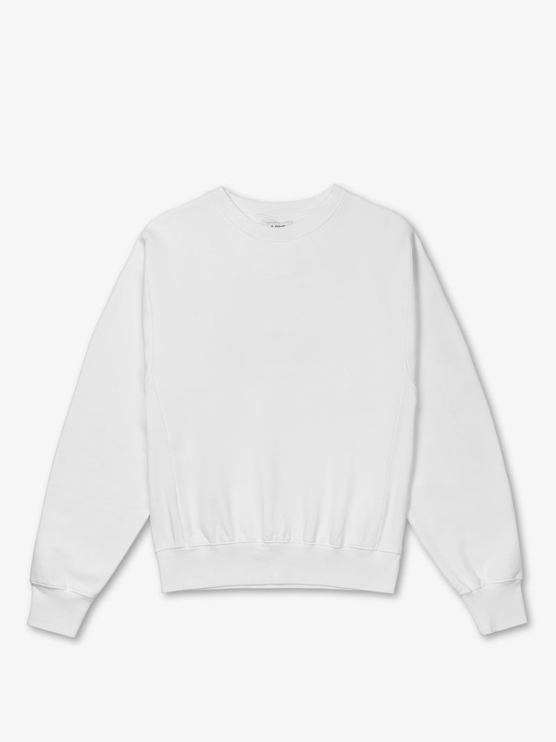 7 DAYS Oversized Monday Crew Neck Sweatshirts 048 Blanc de blanc
