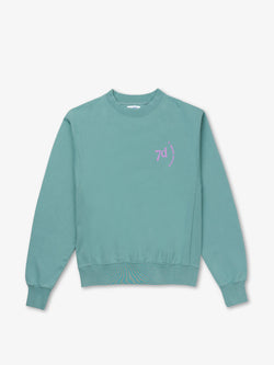 7 DAYS Oversized Monday Crew Neck Sweatshirts 327 Silver Blue