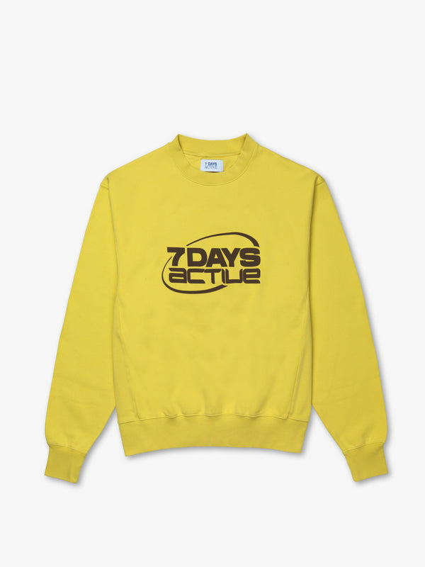7 DAYS Oversized Monday Crew Neck Sweatshirts 804 Acacia Yellow