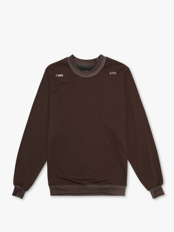 7 DAYS Tech crew neck  Dark brown 505