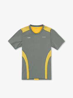 7 DAYS Mens tech tee  280 Green/yellow