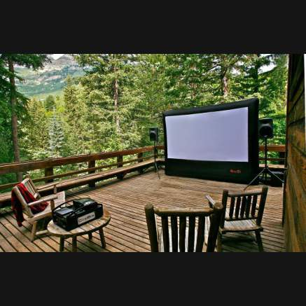 HOME OUTDOOR MOVIE SCREEN KIT-I Have Never Seen That