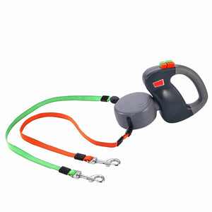 Retractable Dual Dog Leashes-I Have Never Seen That