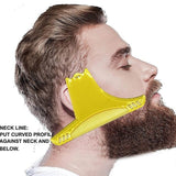 Men Beard Shaping Styling Template Comb Men's Beards Combs Beauty Tool for Hair Beard Trim Templates - Barbe de Papa