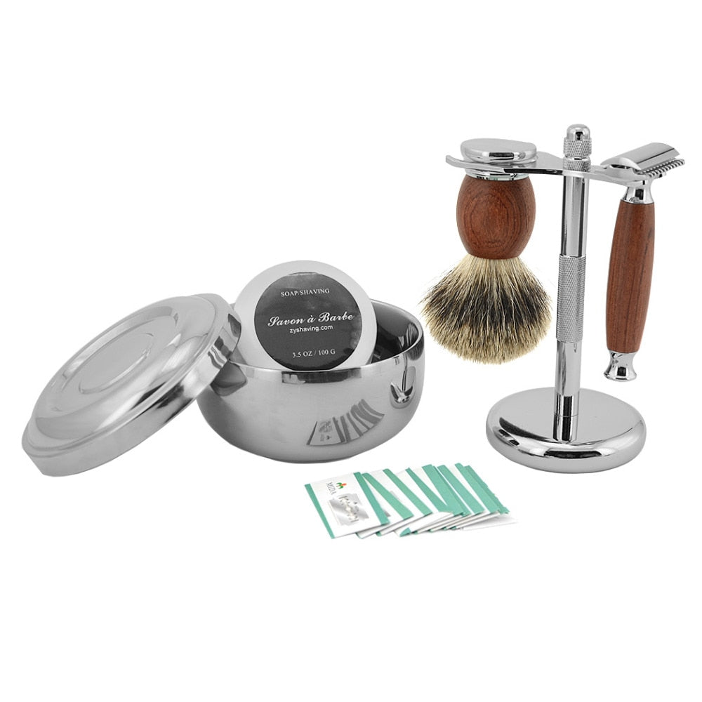 Kit de Rasage <br> Traditionnel Tout-en-un - Barbe de Papa