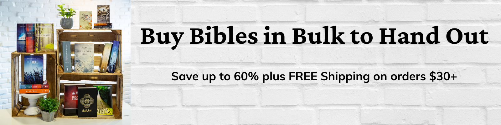 Low-Cost Outreach Bibles: Save up to 60% plus FREE Shipping on orders $30+