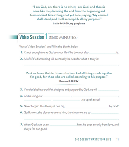 Nothing Wasted Study Guide with DVD: God Uses the Stuff You Wouldn't by Kasey Van Norman