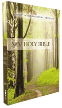 Load image into Gallery viewer, NIV, Value Outreach Bible, Paperback, Green Forest Path | ChurchSource