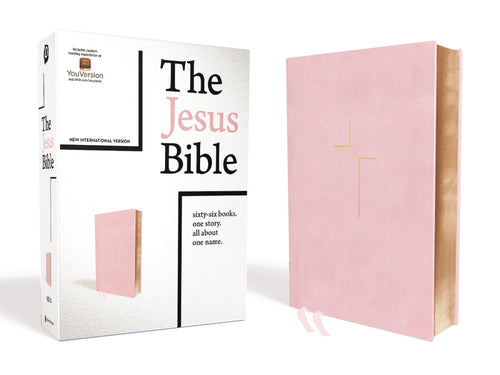 The Jesus Bible, NIV Edition, Leathersoft over Board, Pink, Comfort Print