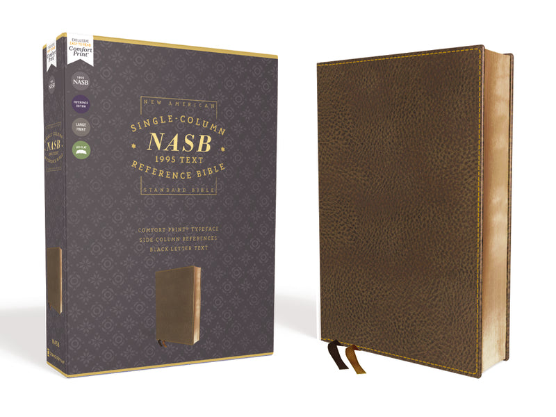 NASB, Single-Column Reference Bible, Wide Margin, 1995 Text, Comfort Print