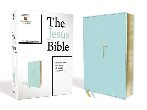 The Jesus Bible, NIV Edition, Leathersoft, Blue, Comfort Print by Passion and Louie Giglio