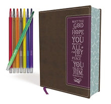 Load image into Gallery viewer, NIV, Beautiful Word Coloring Bible and 8-Pencil Gift Set, Leathersoft, Brown/Purple: Hundreds of Verses to Color | ChurchSource