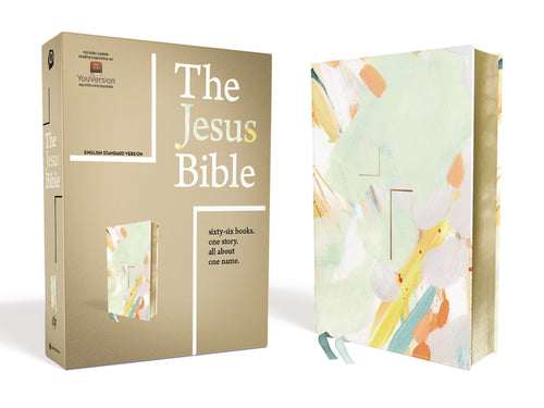 The Jesus Bible, ESV Edition, Leathersoft, Multi-color/Teal by Passion