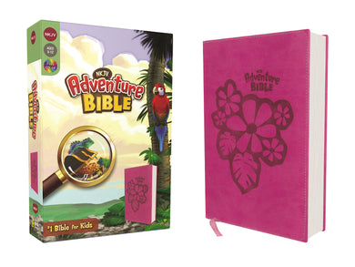 NKJV, Adventure Bible, Leathersoft, Pink, Full Color by Lawrence O. Richards