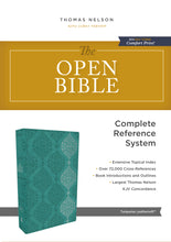 Load image into Gallery viewer, The KJV, Open Bible, Leathersoft, Green, Red Letter Edition, Comfort Print: Complete Reference System