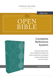 The KJV, Open Bible, Leathersoft, Green, Red Letter Edition, Comfort Print: Complete Reference System