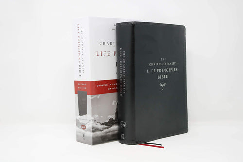 NKJV, Charles F. Stanley Life Principles Bible, 2nd Edition, Leathersoft, Black, Comfort Print: Growing in Knowledge and Understanding of God Through His Word by Charles F. Stanley (personal)