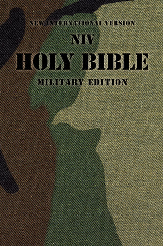 NIV, Holy Bible Military Edition, Paperback, Woodland Camo