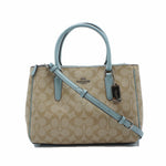 Bolsa Coach Surrey Carryall Signature Canvas Azul Claro / Khaki