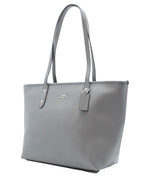 Bolsa Coach Tote City Zip Heather Grey