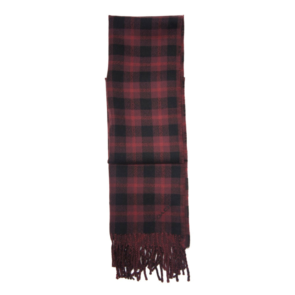 Bufanda Coach Reversible Signature Plaid Double Face Muffler Oxblood