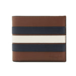 Cartera Coach ID with Varsity Stripe Saddle / Midnight Navy / Chalk