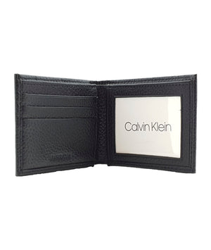 Cartera Kit Calvin Klein Slimfold Pebble Black
