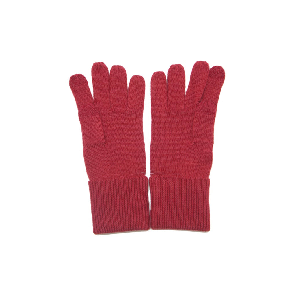 Guantes Coach Embossed Signature Knit Touch Bright Red