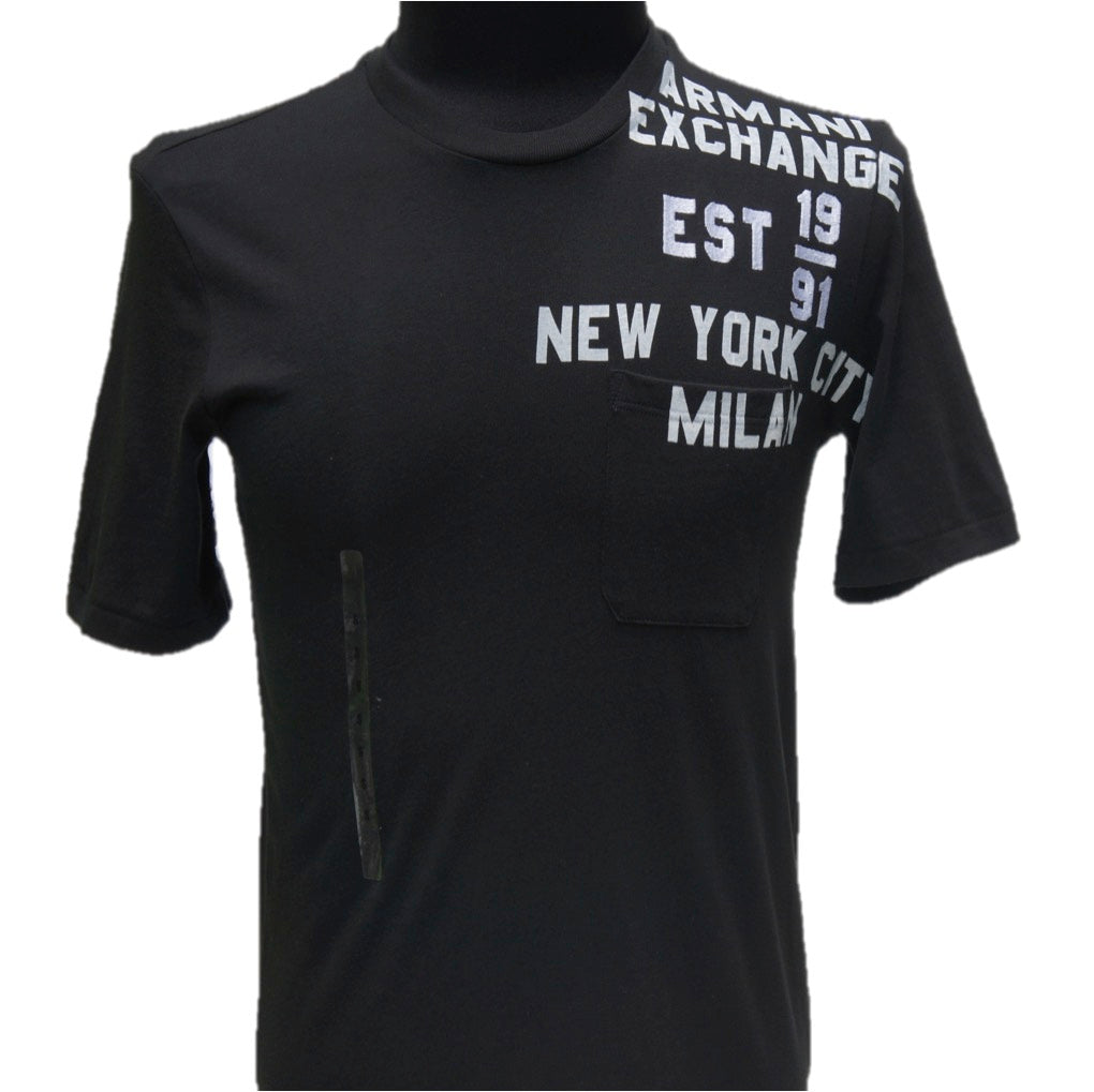 Playera Armani Exchange Black Stamp