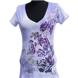 Playera Armani Exchange Purple flowered
