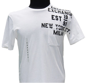 Playera Armani Exchange White Stamp
