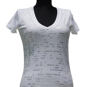 Playera Armani Exchange White World