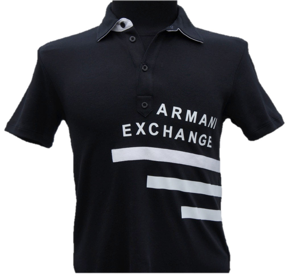 Playera Armani Exchange Tipo Polo Black