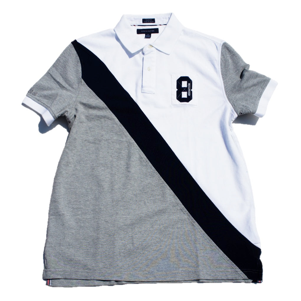 Playera Tommy Hilfiger tipo polo Gris No. 8
